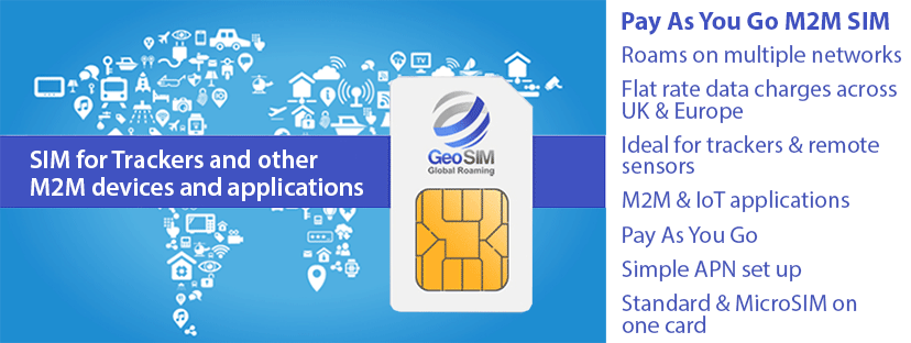 GeoSIM Pay As You Go M2M SIM